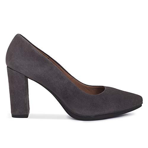 Gel Mimao Zapato Zapatos Baile Salón Gris Tacón Fiesta Con Plantilla Confort Cómodo Hechos Piel España Mujer Y Tacón Latino En HxzqH8grw
