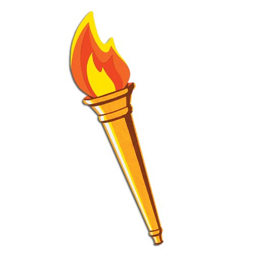 Olympic Torch Costume (Beistle 55666 Torch Cutout, 24-Inch (Pack of 24))