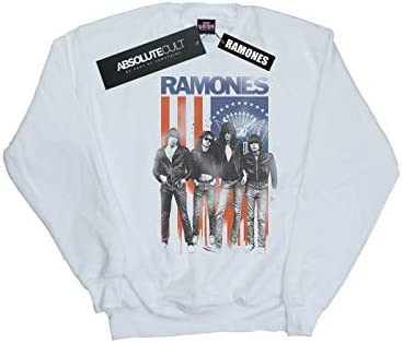 Absolute Cult Ramones Damen Flag Photo Sweatshirt Weiß Small