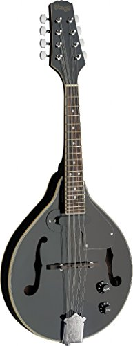 Stagg M50 E BLK Acoustic-Electric Bluegrass Mandolin - Black by Stagg