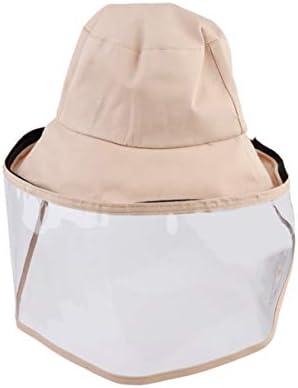 iplusmile 防護帽 安全保護帽子 漁師帽 フェイスカバー つば広ハット 防風キャップ ハット 釣り帽子 男女兼用(カーキ)