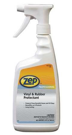 Zep Professional R08301 Ready-to-Use Vinyl and Rubber Protectant, Bland Fragrance, Opaque White (Case of 12 Quarts)