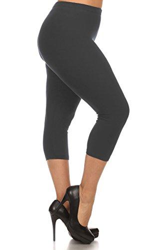 Capri Elastic Waist Leggings - 1