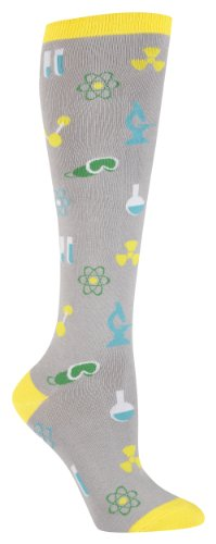 Mad Science Knee Socks – Grey