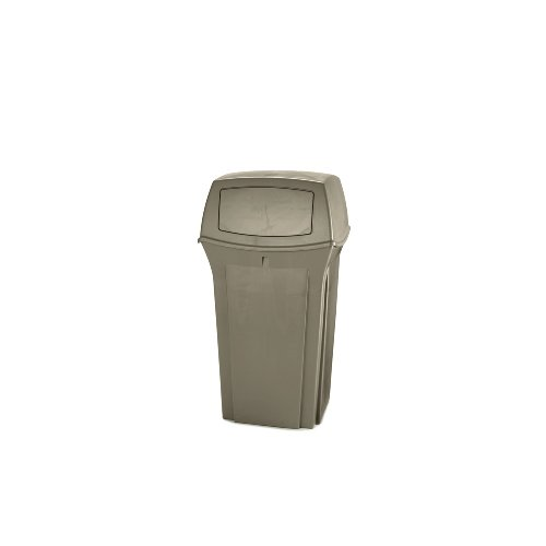 Rubbermaid Commercial Ranger Fire-Safe Container, Square, Structural Foam, 35gal, (Ranger Trash Container)