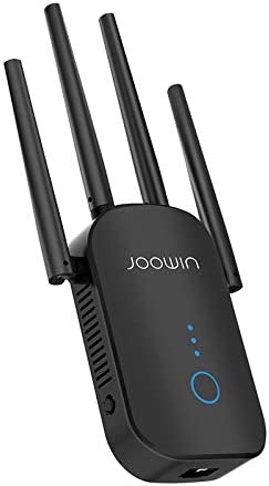 Wireless Signal Repeater Booster 2.4 /& 5GHz Dual Band 4 Antennas 360/° Full Coverage 1200Mbps, White Extend WiFi Signal to Smart Home /& Alex Devices WiFi Range Extender 1200Mbps