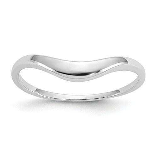 14k White Gold Polished Swirl Ring - Size 6.5 - White Gold Polished Swirl