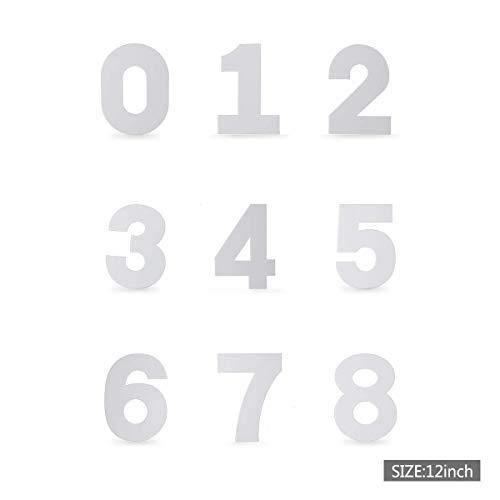Oumosi - Molde para Tartas con Forma de números, diseño de Letras Digitales, plástico, como Indica la Imagen, 30,5 cm (12