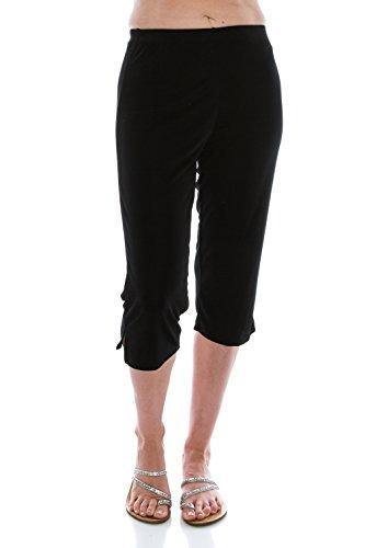 Jostar Women's Stretchy Capri Pants X-Large - Knit Set Slinky Pant