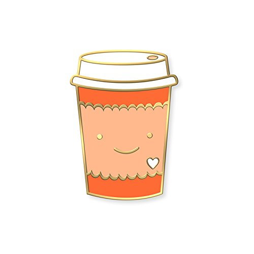 Coffee Lover Enamel Pin - Cloisonne Coffee