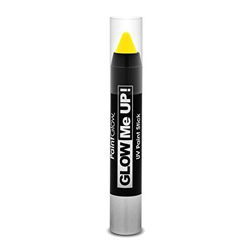 Paint Glow Glow Me Up UV Paint Stick-Yellow AI1H01yellow