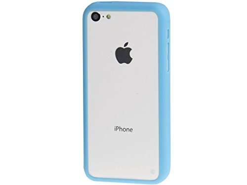 Apple iPhone Case 5c, Fone-Stuff® - Protection Crystal Clear Cover Hardback avec TPU Bumper in Blue