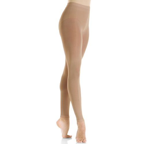 Mondor 3312 Women's Skating Tight Footless (Large, Suntan) ()