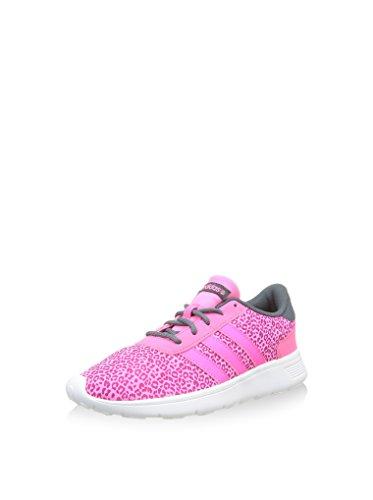 Adidas - Lite Racer - F98327 - Couleur: Blanc-noir-rose - Taille: 40.6