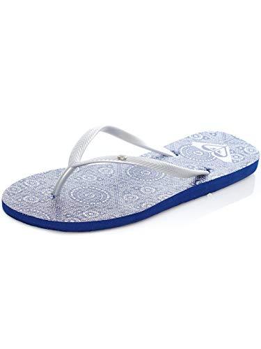 Roxy Dark Blue Bermuda Ii Womens Flip Flop (US 8.5, Blue)