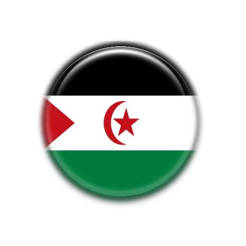 Sahara Occidental : Bandera Nacional, Pinback Button Badge 1.50 Inch (38mm)