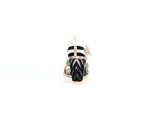 Hispanitas - Sandalia cuña tiras plata