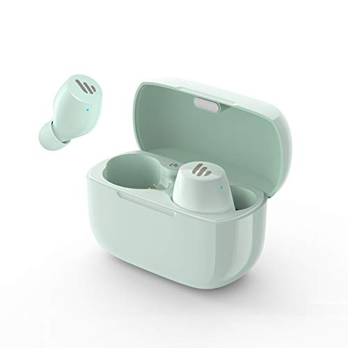 Edifier TWS1 True Wireless Earbuds - Up to 32 Hour Battery Life with Charging Case and Mic, Bluetooth v5.0 aptX, IPX5 Splash & Sweatproof, Easy Pairing - Mint Green