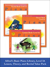 (Alfred's Basic Piano Library Lesson, Theory, Recital 1A (Value Pack))