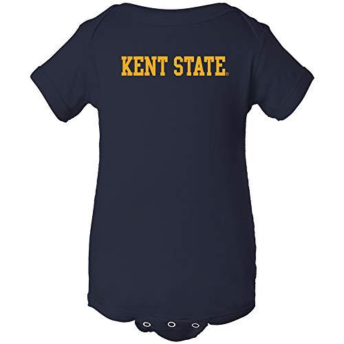 Golden Flashes Basketball - YC01 - Kent State Golden Flashes Basic Block Infant Creeper Bodysuit - Newborn - Navy