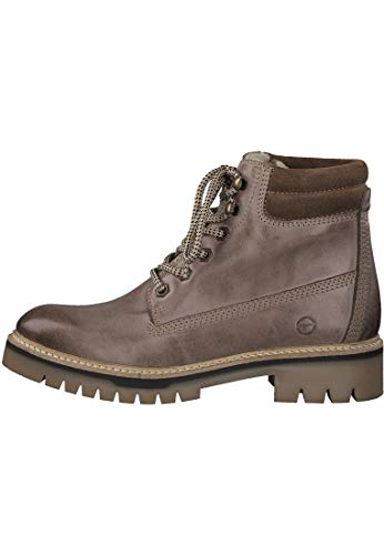 Dark 21 Truffle With Boots 453 26253 Warmlining Women's Tamaris Gray 1 up Brown Lace Y6n4WSwF