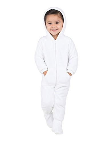 Footed Pajamas - In The Clouds Infant Hoodie Chenille Onesie - Small -
