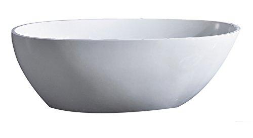 Eviva EVTB6218-60WH Sarah Free Standing 60'' Acrylic Bathtub, White by Eviva