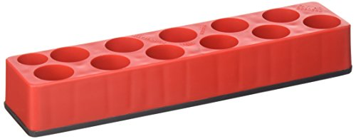 Mechanic's Time Savers MTS981 Drive Socket Holder (3/8 in. Universal Red 11 Hole Impact 9-19mm)