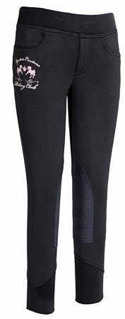 Equine Couture Childrens Riding Club Pull On Breeches