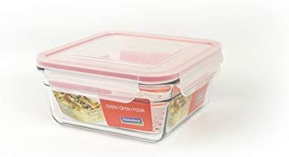 Glasslock, recipiente para alimentos cuadadro, Apto para horno, ?x ...