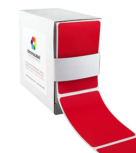 ChromaLabel 2 x 3 inch Color-Code Labels | 250/Dispenser Box (Red)