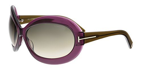 Tom Ford FT0428 81T EDIE Purple Oval - Tom Sunglasses Celebrity Ford