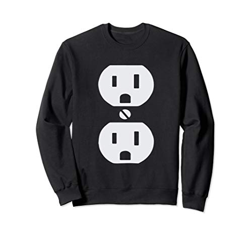 Plug and Socket Couples Halloween Costume Sweatshirt ()