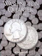 Washington Quarters 1988-1998 HE Harris Coin Folder