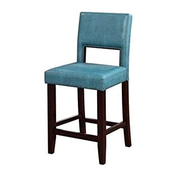 Amazon Com Pemberly Row 24 Quot Counter Stool In Agean Blue