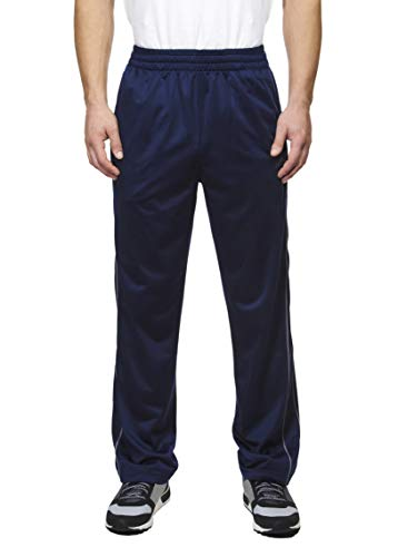 Spalding Men's Essential Tricot Throwback Sweatpants Training Active Athletic Track Pants, Dark Navy, X-Large
