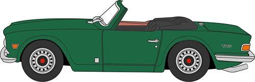 Oxford Die Cast 1:76 Scale Triumph TR6 Emerald Green