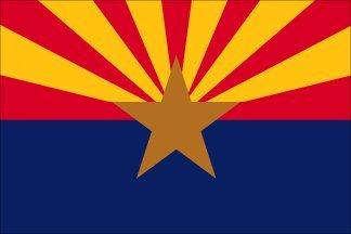 """3x5 FT AZ Arizona Flag """"Pole Sleeve"""" Pole Hem Style Nylon US"""