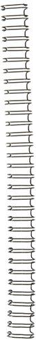 GBC WireBind Binding Spines, 0.5-Inch Spine Diameter, Black, 100 Sheet Capacity, 100 Spines (9775028)