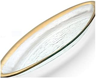 product image for Annie Glass Roman Antique 11 X 17 Large Oval Platter Gold