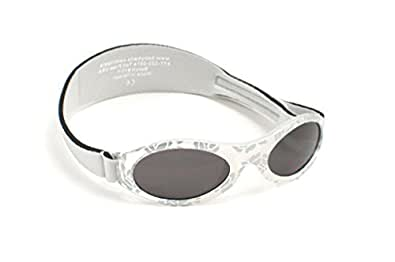 Adventure BanZ Baby Sunglasses, Silver Damask,  0-2 Years