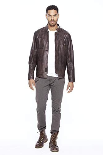 Marrone Smuggler Star Musterbrand Uomo Giacca Pelle In Wars r7wdYqw0