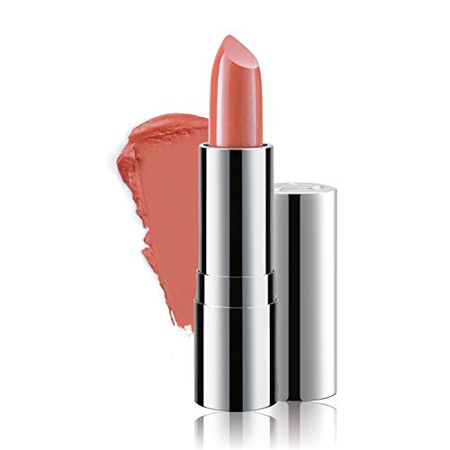 Super Moisturizing Lipstick by Luscious Cosmetics – Unique Smooth & Creamy Formula – Vegan | Cruelty Free | Lead Free | Color – Just Peachy – 0.12 Ounce