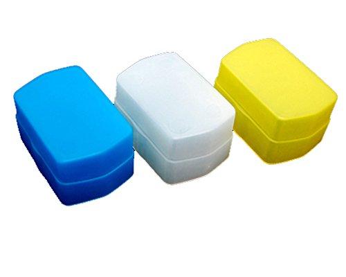 Fotasy DF580XKit Flash Diffuser Cap Box Kit for Canon 580EX II Flash (White/Blue/Yellow)