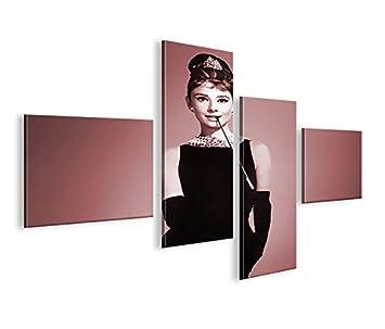 Amazonde Islandburner Bild Bilder Auf Leinwand Audrey Hepburn V2