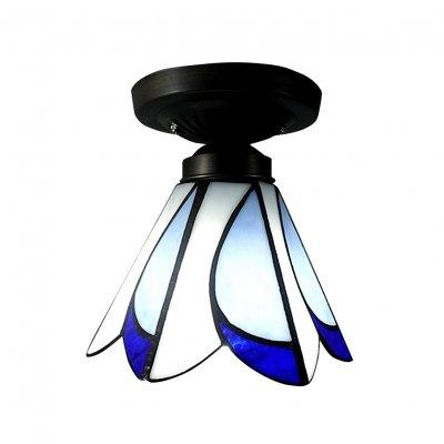 Amazon.com: Hua Tiffany Style - Lámpara de techo empotrable ...