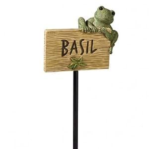 Frog Garden Marker: Basil