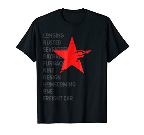Red Soldier Trigger Words Winter Star Hero T-Shirt]()