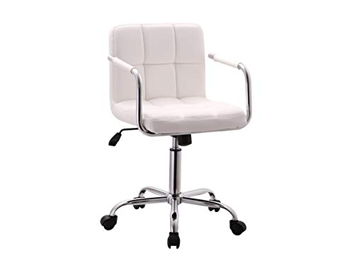 Office Chair/Barstools Adjustable Height - White by Mollai Collection