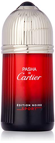 Cartier Pasha de Edition Noire Sport Eau de Toilette Spray for Men, 3.3 Ounce